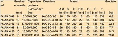 Inel principal cu 3 sau 4 scurtatori ICE  premontati