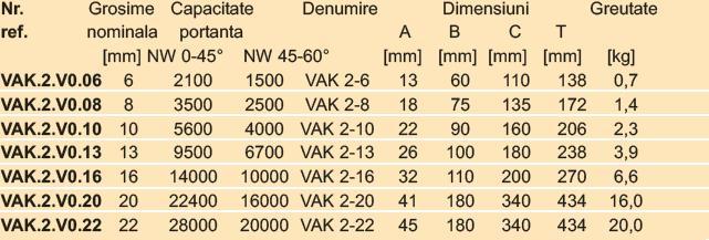 VAK2-Inel principal cu 2 brate
