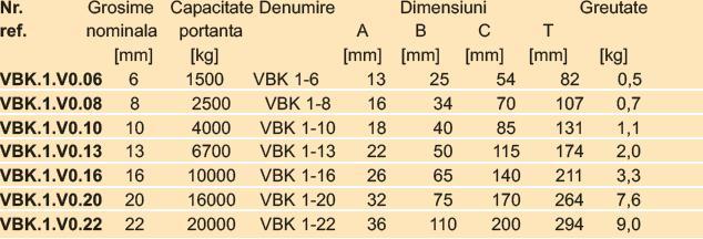 VBK1-Inel principal cu 1 brat pt. carlig mic