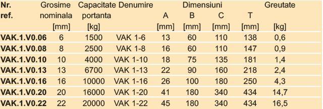 VAK1-Inel principal cu 1 brat